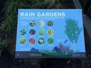 Thornton Creek Elementary Rain Garden Sign